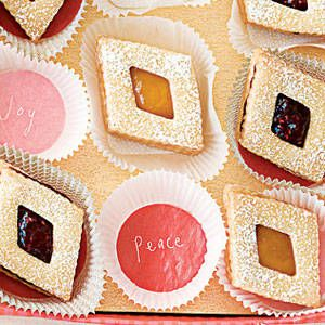 "<p>These pretty diamond shaped cookies have a sweet jam filling in the center that gives the cookie a pop of color and fruity taste!</p> <p><b>Recipe:</b> <a href=""http://www.delish.com/recipefinder/shortbread-diamond-jammies-122235"" target=""_blank""><b>Shortbread Diamond Jammies</b></a></p>"