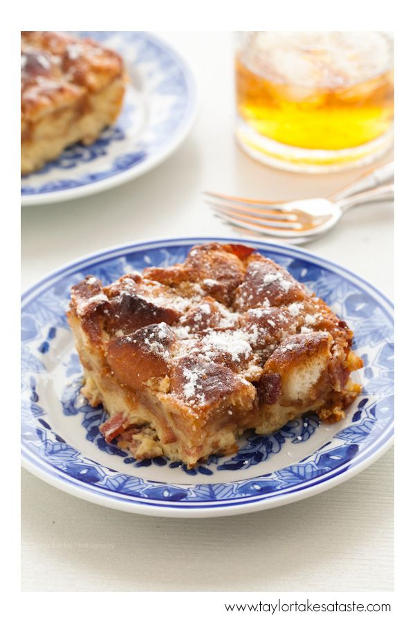 "<p></p> <p><strong>Get the recipe from <a href=""http://taylortakesataste.com/bacon-bourbon-and-doughnut-bread-pudding/"" target=""_blank"">Taylor Takes A Taste</a>.</strong></p>"