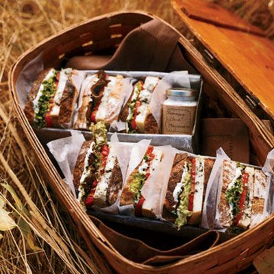 """Even vegetarians can indulge in this decadent """"BLT"""" — where the """"B"""" stands for Rogue River Smoky <i>Blue</i> cheese. Stack it up with romaine lettuce, beefsteak tomatoes, and our Rosemary Mayonnaise, which gives this sandwich its sophisticated flavor.<br /><br /><b>Recipe: <a href=""""/recipefinder/smokey-blt-clv0907""""target=""""_blank"""">Smoky """"BLT""""</a></b>"""