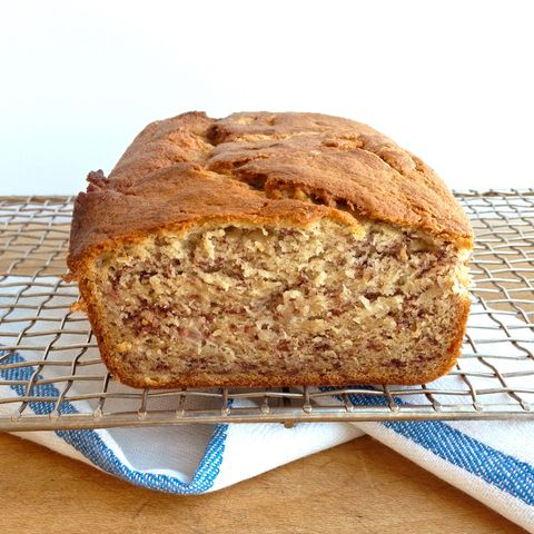 This banana bread from one of our staffer's moms is simple but amazing. A tip from mom: Freeze the loaf after cooling to make the banana bread extra moist.  Recipe: Jo Ann's Banana Bread