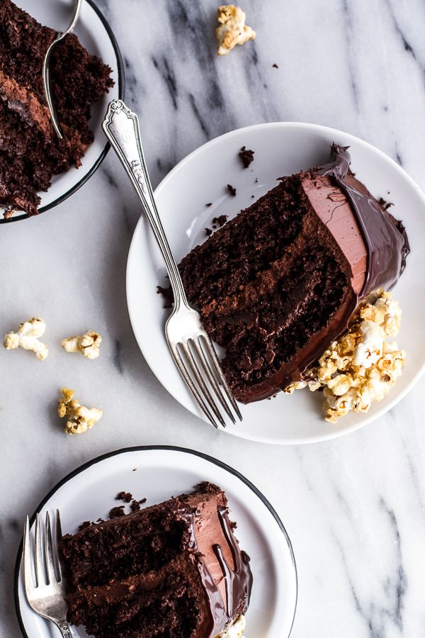 """<p>Think the name of this recipe is a mouthful? Just wait until you take that first ridiculously delicious bite.</p> <p><strong>Get the recipe from <a href=""""http://www.halfbakedharvest.com/healthier-chocolate-lovers-sweet-corn-hazelnut-crunch-chocolate-cake-wganache/"""" target=""""_blank"""">Half Baked Harvest</a>.</strong></p>"""