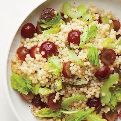 <p>Juicy grapes contrast with crunchy celery in this simple salad that comes together in just 20 minutes.</p>