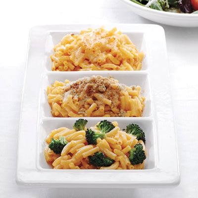 """<p>With Mexican, Italian, and American versions, Sandra Lee's spiced up mac-and-cheese recipes allow you to dress up this classic kids' dish. You'll have dinner on the table in time for an early trick-or-treat departure.</p><br />  <p><a href=""""macaroni-and-cheese-mexican-recipe /recipefinder/macaroni-and-cheese-mexican-recipe""""target=""""_new"""">Mexican-Style Screamin' Macaroni and Cheese</a></p>  <p><a href=""""macaroni-and-cheese-italian-style /recipefinder/macaroni-and-cheese-italian-style""""target=""""_new"""">Italian-Style Screamin' Macaroni and Cheese</a></p>  <p><a href=""""macaroni-and-cheese-american-style /recipefinder/macaroni-and-cheese-american-style""""target=""""_new"""">American-Style Screamin' Macaroni and Cheese</a></p>"""