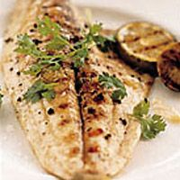 Grilled Pompano With Tangy Ginger Sauce