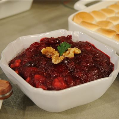 Orange Walnut Cranberry Sauce Thanksgiving Recipes