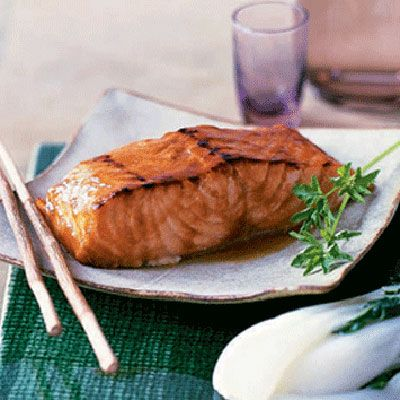 "The omega-3 oils in salmon are thought to promote healthy arteries and may also help treat depression and rheumatoid arthritis. Health benefits aside, there's no quicker weeknight supper than our Pineapple- and Soy-Glazed Salmon. Slipped into the oven, it cooks in less than 10 minutes. The glaze includes a fermented soybean paste, one of whose phytonutrients, isoflavone, seems to mimic estrogen and could prevent breast and prostate cancers. <br /><br /><b>Recipe:</b> <a href=""/recipefinder/pineapple-soy-glazed-salmon-4059""  target=""_blank"">Pineapple- and Soy-Glazed Salmon</a>"