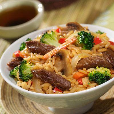 Vegetarian beef fried rice recipe easy beef fried rice forumfinder Gallery