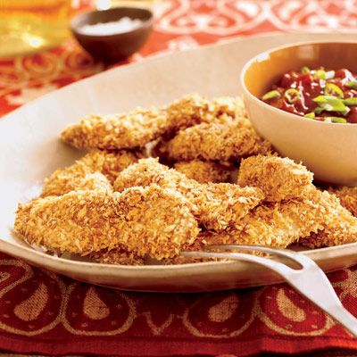 "<p>Chicken tenders look harmless enough, but when you add some breading and throw them in the deep fryer, you end up with more calories than you bargained for. An order of Carl's Jr. chicken breast strips has 710 calories. Our oven-fried version only has 280. <b>Total calories saved: 430</b>.</p><br /><p><a href=""/recipefinder/oven-fried-chicken-tenders-five-spice-bbq-0907"" target=""_blank"">Check out our Oven-Fried Chicken Tenders recipe</a>."