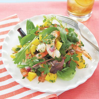 "<p>Greg Fontenot of The Woodlands, TX, earned honors in <i>Quick & Simple</i>'s No-Cook Summer Recipes contest with this easy, low-fat combo of tangy mango, frozen cooked shrimp, and a zesty lime-juice dressing.</p><br /><p><b>Recipe: <a href=""/recipefinder/shrimp-and-mango-salsa-salad"" target=""_blank"">Shrimp and Mango Salsa Salad</a></b></p>"