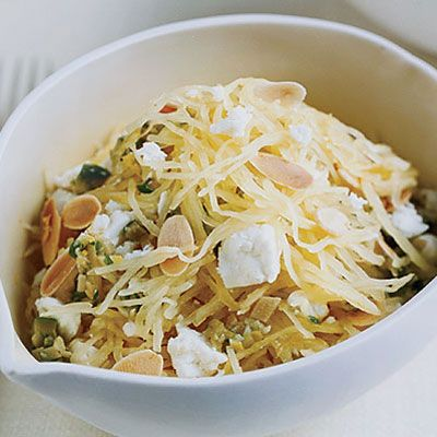 "<p>Mild spaghetti squash is delicious with potent ingredients like the olives and feta in this lemony salad. Use it as a starter or a side dish.</p><br /><br /><p><a href=""/recipefinder/warm-spaghetti-squash-salad-recipe-5b0c2761-b8c1-48d0-b018f7625d3090a7"" target=""_blank""><b>Get this recipe!</b></a></p>"