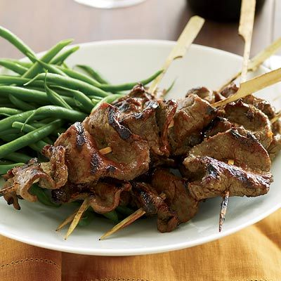 "Addictively tangy and salty-sweet, these skewers are also delicious when made with chicken breast or pork tenderloin.<br /><br /> <b>Recipe: <a href=""/recipefinder/grilled-beef-tenderloin-skewers-red-miso-glaze-recipe""target=""_new"">Grilled Beef-Tenderloin Skewers with Red-Miso Glaze</a></b>"