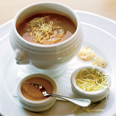 """At Terrôir restaurant at the Craggy Range winery, chef Sara Simpson flavors her lush seafood soup with port, red wine and the usual dash of licorice-scented Pernod.<br /><br /> <b>Recipe: <a href=""""/recipefinder/provencal-fish-soup-recipe""""target=""""_new"""">Provençal Fish Soup</a></b>"""