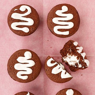 """<p>These nostalgic desserts will bring back fond memories of sweets like Mom used to make...or like the snack-cake bakery used to make — in either case, they're super-satisfying.</p><br /><p><b>Recipe: <a href=""""/recipefinder/cream-filled-chocolate-cupcakes-recipe"""" target=""""_blank"""">Cream-Filled Chocolate Cupcakes</a></b></p>"""