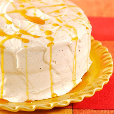 PFrosted With Browned Butter Buttercream This Fluffy Caramel Cake Is Courtesy Of Martha Stewart