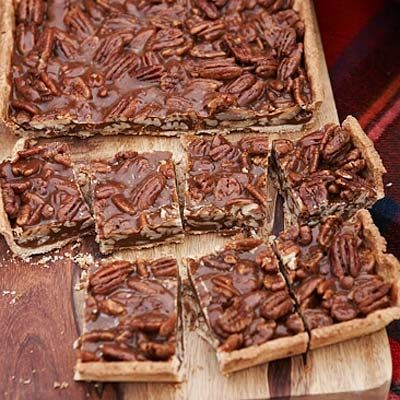 "These delightful nut bars, inspired by a recipe from <a href=""http://www.cliorestaurant.com/"" target=""_blank"">Clio</a> chef Ken Oringer's mother-in-law, are both gooey and crisp. Oringer sometimes adds a pinch of curry powder to the caramel because, he says, ""I like for people to bite into these and wonder what the spice is. I love that element of surprise.""<br /><br /><b>Recipe:</b> <a href=""/recipefinder/caramel-pecan-bars-recipe"" target=""_blank""><b>Caramel-Pecan Bars</b></a>"