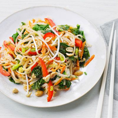"No need to get takeout with this easy Vegetable Pad Thai. It's healthier than takeout too: only 393 calories per serving!<br /><br/><b>Recipe: <a href=""/recipefinder/vegetable-pad-thai-recipe"" target=""_blank"">Vegetable Pad Thai</a></b>"
