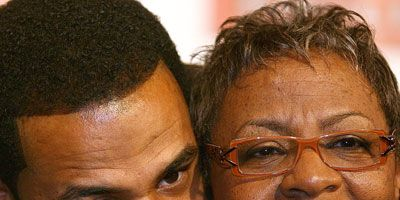 """<p>Jerome """"The Bus"""" Bettis retired from the Pittsburgh Steelers after a victory at Super Bowl XL. Proud mama Gladys couldn't have been happier to have her hometown of Detroit host the big game. Always there for support, Gladys traveled to nearly every game during her son's illustrious career. One of the team's most-loved players, according Gladys, """"[Jerome] would call me up and say, 'Mom, I'm coming home for Thanksgiving and bringing the guys with me.'"""" A classic dessert of <a href="""" http://www.delish.com/recipes/cooking-recipes/gladys-bettis-pork-chops-sweet-potato-pie""""target=""""_new""""><b>sweet potato pie</b></a> is always on the Bettis holiday table, and that includes the celebratory feast on Super Bowl Sunday. Good thing too, because it's The Bus's favorite.</p>"""