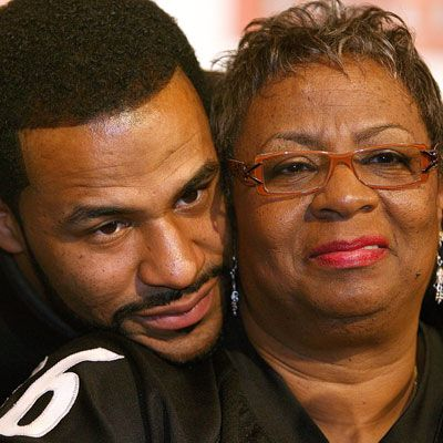 "<p>Jerome ""The Bus"" Bettis retired from the Pittsburgh Steelers after a victory at Super Bowl XL. Proud mama Gladys couldn't have been happier to have her hometown of Detroit host the big game. Always there for support, Gladys traveled to nearly every game during her son's illustrious career. One of the team's most-loved players, according Gladys, ""[Jerome] would call me up and say, 'Mom, I'm coming home for Thanksgiving and bringing the guys with me.'"" A classic dessert of <a href="" http://www.delish.com/recipes/cooking-recipes/gladys-bettis-pork-chops-sweet-potato-pie""target=""_new""><b>sweet potato pie</b></a> is always on the Bettis holiday table, and that includes the celebratory feast on Super Bowl Sunday. Good thing too, because it's The Bus's favorite.</p>"