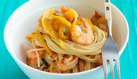 "<p>Put the water on to boil before you prepare all the ingredients for this easy dinner, then cook the shrimp and vegetables at the same time as the pasta.</p><br /><p><b>Recipe:</b> <a href=""/recipefinder/sesame-shrimp-noodles-recipe-mslo0710"" target=""_blank""><b>Sesame Shrimp and Noodles</b></a></p>"