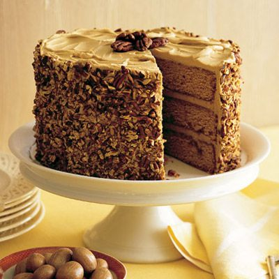 PUnderneath The Pecan Sheath Of This Statuesque Cake Lies A Sweet Secret Courtesy Martha Stewart