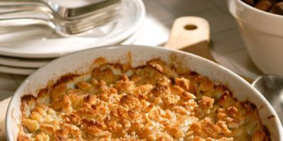 """<p>Combined with velvety Yukon Gold potatoes, Jerusalem artichokes (a.k.a. sunchokes) lend their sweet, nutty flavor to this golden bread crumb-topped gratin.</p><br /><p><b>Recipe:</b> <a href=""""/recipefinder/jerusalem-artichoke-gratin-recipe-mslo1210"""" target=""""_blank""""><b>Jerusalem Artichoke Gratin</b></a></p>"""