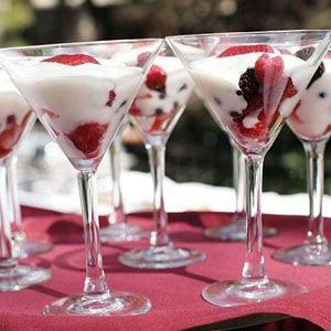 "If a heavier sit-down dinner was served earlier in the night, the last thing guests will want is a rich, decadent dessert. Instead, offer a sweet treat like these colorful <a href=""/search/fast_search_recipes?search_term=parfait"">parfaits</a>, which are just as easy on the eyes as they are to eat."