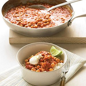 "<p>A thick vegetarian stew made from pantry staples, such as rice, spices, and canned chickpeas, is enlivened with a bit of yogurt and lime. Curry powder, an Indian blend of spices, is a timesaving source of layered flavor; ground ginger brings a quick dash of citrusy warmth.</p><br /><p><b>Recipe:</b> <a href=""/recipefinder/easiest-indian-stew-recipe-mslo1011><b>Easiest Indian Stew""><b>Easiest Indian Stew</b></a></p>"