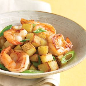"<p>This slightly spicy shrimp skillet toss is ready in just 30 minutes.</p><br />  <p><b>Recipe:</b> <a href=""/recipefinder/shrimp-scallions-crispy-potatoes-recipe-mslo0411"" target=""_blank""><b>Shrimp with Scallions and Crispy Potatoes</b></a></p>"