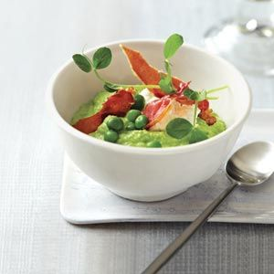 "<p>Chefs Bowman Brown and Viet Pham of Salt Lake City's Forage make this creamy, tangy porridge from sweet peas and yogurt.</p> <p><b>Recipe: </b><a href=""/recipefinder/pea-porridge-fresh-cheese-ham-recipe-fw0711"" target=""_blank""><b>Pea Porridge with Fresh Cheese and Ham</b></a></p>"