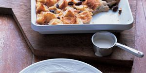 """<p>This warm bread pudding recipe transforms day-old bread — plus eggs and cream — into an indulgence. This version has Creole roots, with cubes of baguette and a sauce that's flavored by a healthy dose of bourbon.</p><br />  <b>Recipe:</b> <a href=""""/recipefinder/louisiana-bread-pudding-whiskey-sauce-recipe-mslo0711"""" target=""""_blank""""><b>Louisiana Bread Pudding with Whiskey Sauce</b></a>"""