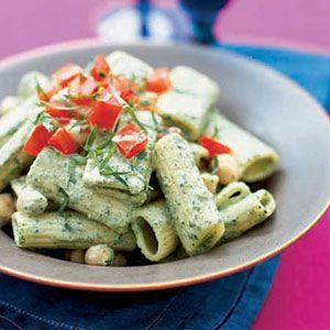 Rigatoni-with-Pesto-and-Chickpeas