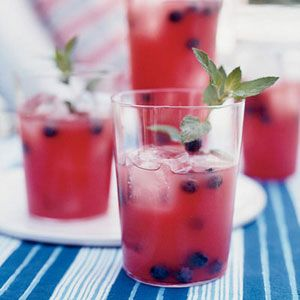 "<p>When watermelon is in abundance, this is a great way to use it. Bobby Flay purées seedless watermelon chunks, then strains the juice through a sieve and mixes it with silver tequila, sugar syrup, blueberries, mint, and fresh lime juice.</p>  <p><b>Recipe:</b> <a href=""recipefinder/watermelon-tequila-cocktails-recipe-fw0811"" target=""_blank""><b>Watermelon-Tequila Cocktails</b></a></p>"