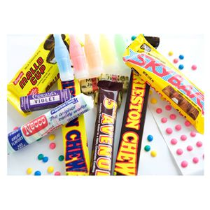 """Craving some of these classic treats but can't find them locally? You're in luck — a few old-school candy stores still exist and many of them will ship directly to your doorstep.<br /><br /> Economy Candy in New York City stocks a whole slew of goodies and ships nationwide. <a href=""""http://www.NostalgicCandy.com"""" target=""""_blank"""">NostalgicCandy.com</a> and Old-Time Candy can also satiate your sweet tooth.<br /><br /> Craving candy from a particular decade? One of our favorite shops here in New York City, Dylan's Candy Bar, offers candy time capsules! The 1960's capsule includes Fruit Stripe gum, Charleston Chew, Mallow Cup and other goodies, but capsules are available starting from way back in the '20s."""