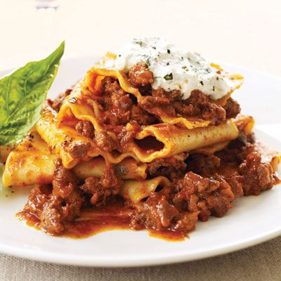 """<p>When ground beef is on sale at the supermarket, load a few packages into your cart. It's a versatile protein that can be used in a variety of dishes adults and kids like.</p><br /><a href=""""/recipes/cooking-recipes/martha-stewart-ground-beef-dishes"""" target=""""_blank""""><b>Ground Beef Recipes from Martha Stewart</b></a><br /><a href=""""/recipes/cooking-recipes/ground-beef-recipes-021709"""" target=""""_blank""""><b>1 Pound of Ground Beef 11 Ways</b></a><br /><a href=""""/recipes/cooking-recipes/easy-ground-beef-recipes"""" target=""""_blank""""><b>Easy Ground Beef Recipes</b></a><br /><br /><b>Pictured Recipe: <a href=""""/recipefinder/lasagna-toss-bolognese-recipe"""" target=""""_blank"""">Lasagna Toss Bolognese</a></b>"""