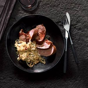 "<p>Because stovetop smoking is so fast, lean pork tenderloin won't become too dry.</p><br /><p><b>Recipe: </b><a href=""/recipefinder/smoked-pork-tenderloin-bourbon-rosemary-sauce-recipe-fw0211"" target=""_blank""><b>Smoked Pork Tenderloin with Bourbon-Rosemary Sauce</b></a></p>"