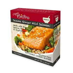 """Tasters wished there had been more sauce, some remarking on the """"slightly dry salmon."""" Still, this got points for """"delicious"""" veggies and quinoa. Gluten Free. $5.49, 300 calories."""