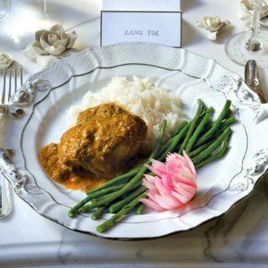 """<p>Rendang is a Malaysian meat dish that's slow-cooked in coconut milk. This version is made with chicken thighs flavored with an intensely fragrant ginger-chile paste, but it can also be made with beef, shrimp, or vegetables. Serve with steamed jasmine rice and sautéed green beans.</p><p><b>Recipe: </b><a href=""""/recipefinder/curried-coconut-chicken-rendang-recipe-fw0111"""" target=""""_blank""""><b>Curried-Coconut Chicken Rendang</b></a></p>"""