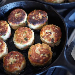 Potato-and-Wild-Salmon Cakes with Ginger and Scallions