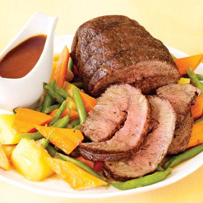 "<p>A roast beef dinner may seem extravagant when you're intent on tightening the purse strings, but a pot roast may just be worth the investment. Our recipe provides eight generous main meal servings, making it more than just a satisfying Sunday dinner. With more than enough meat for a next-day dinner, you could go for a second pot roast meal or try using the leftover meat for fajitas or sandwiches — or how about a hearty stew?</p><br />  <p><a href=""/recipefinder/pot-roast-fall-vegetables-recipe""target=""_new"">Get this recipe!</a></p>"