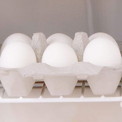 Whether your eggs are small or large, brown or white, you'll want to start with cold eggs. Keep them in the refrigerator until you're ready to make the perfect scrambled eggs.