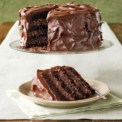 "<p>Made from a mix, this cake is particularly moist and fudgy, thanks to two secret ingredients (mayonnaise and cocoa). Combine packaged coconut and nuts with creamy chocolate frosting to create the irresistible filling.</p><br /> <p><b>Recipe: </b><a href=""/recipefinder/rich-chocolate-layer-cake-4009"" target=""_blank""><b>Rich Chocolate Layer Cake</b></a></p>"