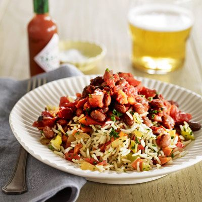"Hot pepper sauce and fire-roasted tomatoes spice up the usually tame garden rice. Add a helping of red beans, and you've got a hearty, healthy, go-to meal.<br /><br /><b>Recipe: <a href=""/recipefinder/garden-rice-red-beans-recipe"" target=""_blank"">Garden Rice and Red Beans</a></b>"