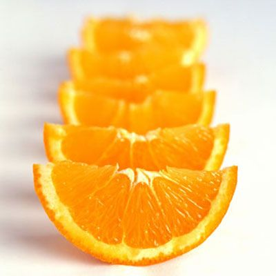 "<p><a href=""http://www.umm.edu/ency/article/002404.htm"" target=""_new""> Vitamin C</a> helps the body maintain healthy tissues and a strong immune system, and it <a href=""http://www.health.gov/dietaryguidelines/dga2005/document/html/chapter2.htm"" target=""_new""> aids in the absorption of iron</a>. The <a href=""http://health.nytimes.com/health/guides/nutrition/vitamin-c/background.html"" target=""_new""> recommended daily allowance</a> (RDA) for adult men is 90 mg and for adult women it's 75 mg. Here are the top 10 food sources of vitamin C, according to the USDA's <a href=""http://www.health.gov/dietaryguidelines/dga2005/document/html/AppendixB.htm#appB9"" target=""_new""> Dietary Guidelines for Americans</a>.</p>"