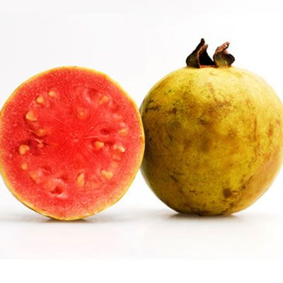 "<p>Guava is rich in vitamin C — one half-cup of the fruit contains 188 mg of vitamin C and 56 calories. Eat the fruit raw, or try this recipe for a <a href=""http://www.delish.com/recipefinder/hawaiian-smoothie-recipe-10032"" target=""_new"">Hawaiian Smoothie</a>.</p><br />  <p><strong>Recipe:</strong> <a href=""http://www.delish.com/recipefinder/hawaiian-smoothie-recipe-10032"" target=""_new"">Hawaiian Smoothie</a>"