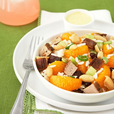 "<p>With a little imagination, you can serve Monday's dinner on Tuesday without hearing groans of ""not again!"" Making a curry is a great way to dress up your leftovers. We've given this pork salad a fruity feel by introducing mandarin oranges and raisins to contrast with the spicy curry flavor. Your family will be convinced they are sampling a first-time creation rather than a next-day dinner.</p><br />  <p><a href=""/recipefinder/curried-pork-salad""target=""_new"">Get this recipe!</a></p>"