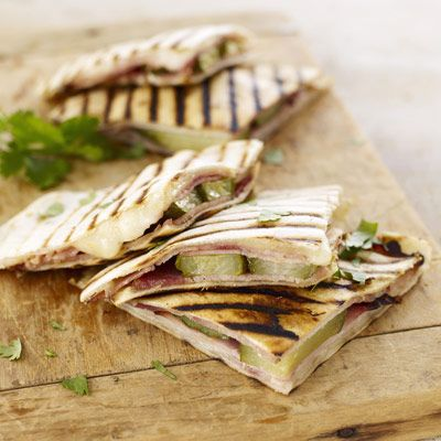 "These Cuban sandwich-style quesadillas are delicious and easy to eat. <a href=""/recipefinder/cubano-quesadillas-ghk"" target=""_blank"">Check out this easy appetizer recipe</a>."