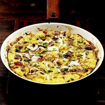"""<p>Just because a frittata is an Italian omelette doesn't mean you can't serve it for lunch and dinner, too!</p><br /><p><a href=""""/recipefinder/bacon-fontina-frittata-italian-omelette""""target=""""_new"""">Get this Recipe!</a></p>"""