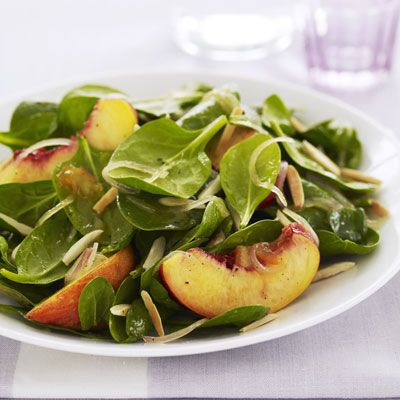 "If you're taking this spinach salad for lunch, toss the nectarines with dressing and pack separately from greens.<br /><br /><b>Recipe: </b><b><a href=""spinach-nectarine-salad-ghk""target=""_new"">Spinach and Nectarine Salad</a> (pictured)</b><br /><br /> <b>More Recipes:<br /> <a href=""/recipefinder/spinach-salad-japanese-ginger-dressing-recipe-10150""target=""_new"">Spinach Salad with Japanese Ginger Dressing</a><br /> <a href=""/recipefinder/spinach-strawberry-salad-recipe""target=""_new"">Spinach and Strawberry Salad</a></b>"
