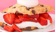 """A just-baked cookie merged with a fresh-and-creamy shortcake...what could be better? <br /><br /><b>Recipe:  <a href=""""/recipefinder/chocolate-chip-strawberry-shortcake"""" target=""""_blank"""">Chocolate Chip Strawberry Shortcake</a></b>"""