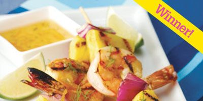 """This light supper dish earned honors for Jason Franklin of Medford, WI, in <i>Quick & Simple</i>'s His Best Recipe contest. <br><br><b>Recipe:  <a href=""""/recipefinder/grilled-southern-shrimp-a-lorange-skewers""""target=""""_blank"""">Grilled Southern Shrimp à l'Orange Skewers</a></b>"""